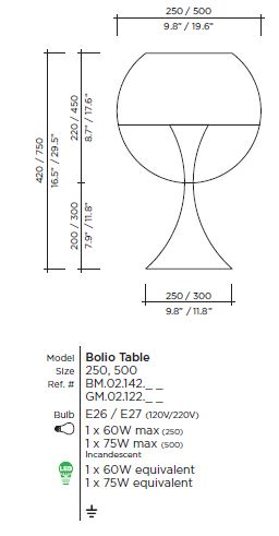 Bolio Table Lamp by VISO (Made in Canada)