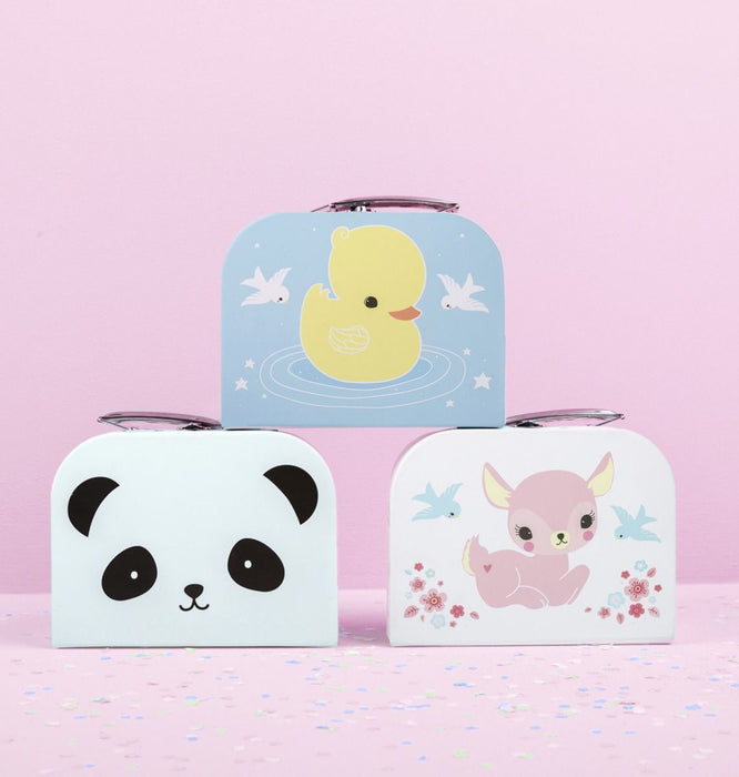 Little Deer, Duck, Panda Suitcase by A Little Lovely Company