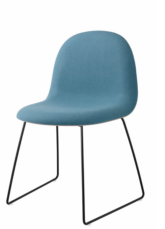 Gubi 12 (Front Upholstered) HiRek chair (Non-stackable) by Gubi
