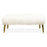 Long Haired Mongolian Lamb Bench by Jonathan Adler