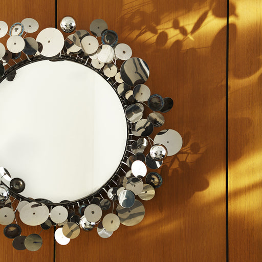 C. Jeré Raindrops Wall Sculpture Mirror by Jonathan Adler