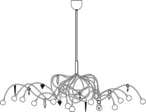 Harco Loor Strawberry Oval Pendant Lamp