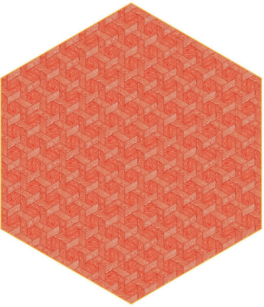 Hexagon Red by Studio Job for Moooi Carpets