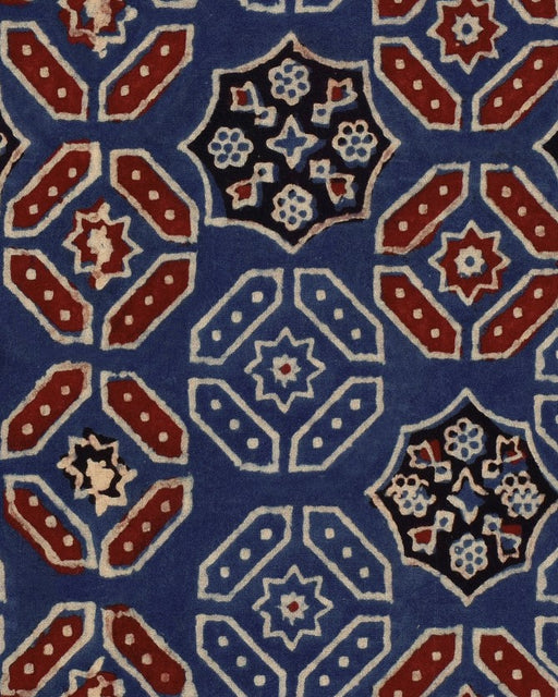 Ajrak Blue Wallpaper by Mindthegap