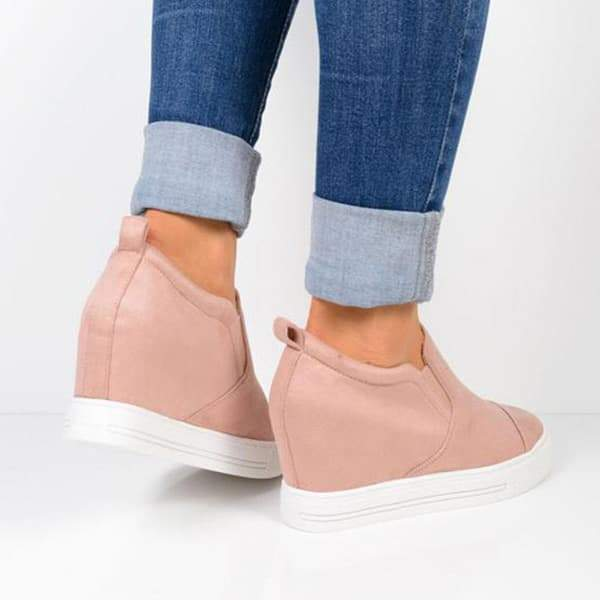 Variedshoes Letter Slip On Wedge Sneakers