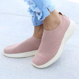 Variedshoes Fly-knit Fabric Athletic Sneakers