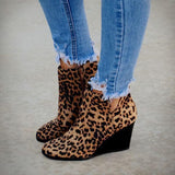 Variedshoes Side Slit Wedge Booties