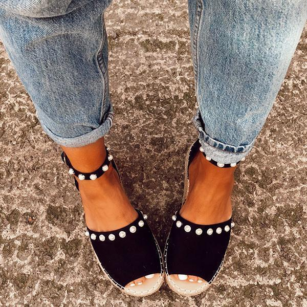 Variedshoes Chic Flats Adjustable Buckle Sandals