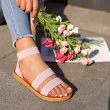 Variedshoes Women Daily Fashion Slip On Flats Sandals