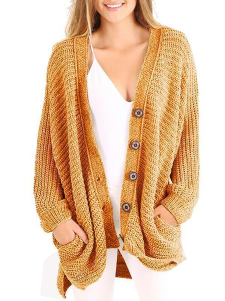 Variedshoes Boyfriend Long Cable Knit Cardigan(Ship In 24 Hours)