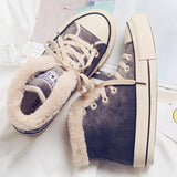 Variedshoes Women's Plush Canvas Shoes