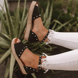 Variedshoes Casual Trendy The Hartley Espadrille Platform Sandals