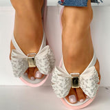 Variedshoes Bowknot Design Flat Sandals Slipper