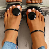 Variedshoes Toe Post Button Sandals Slippers