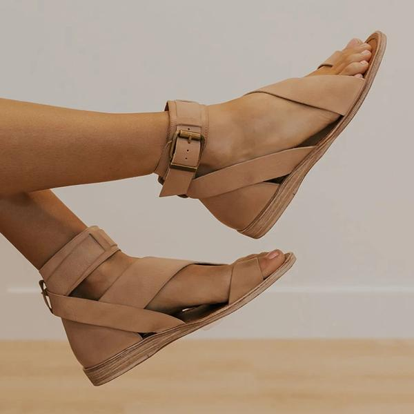 Variedshoes Toe Ring Roman Style Sandals