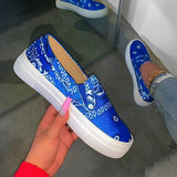 Variedshoes Fashion Slip on Printed Loafers/Sneakers