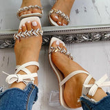 Variedshoes Studded Transparent Chunky Heeled Sandals