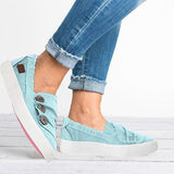 Variedshoes Women Casual Button Comfy Sneakers