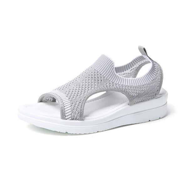 Variedshoes Women Woven Mesh Sandals Slip-on Sneakers