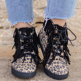 Variedshoes All Season Flat Heel Casual Lace-Up Sneakers