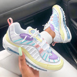 Variedshoes Low Top Running Cream Color Sneakers