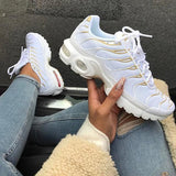 Variedshoes White Gold Low Top Lace-Up Sneakers