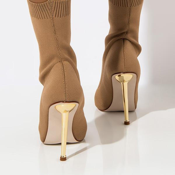 Variedshoes Stiletto Heel Elastic Cloth Boots