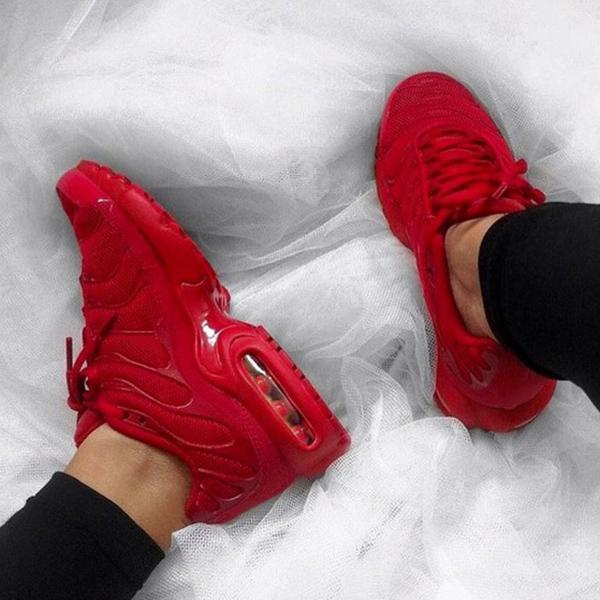 Variedshoes Plus Air Cushion Red Sneakers
