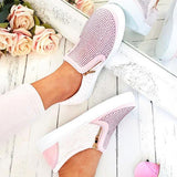 Variedshoes Women Gorgeous Rainbow Colorful Lace Up Platform Sneakers