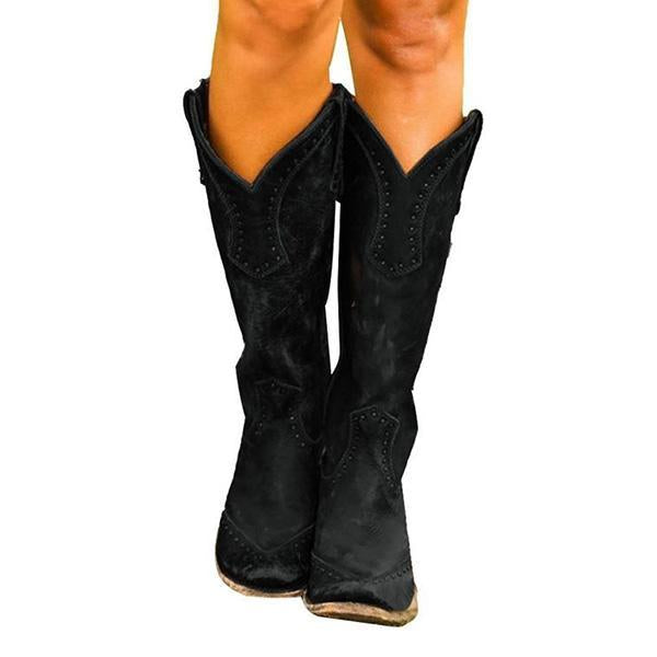 Variedshoes Women Retro Knee High Boots