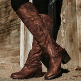 Variedshoes Vintage Boots European Style Bandage Above Knee Boots
