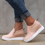 Variedshoes Round Toe Block Daily Sneakers