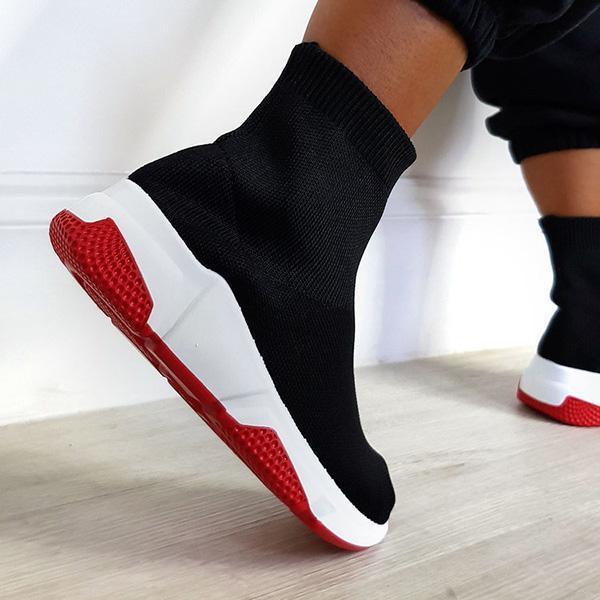 Variedshoes Women Fashion Daily Sock Sneakers