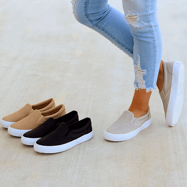 Variedshoes Slip On Running Flat Sneakers