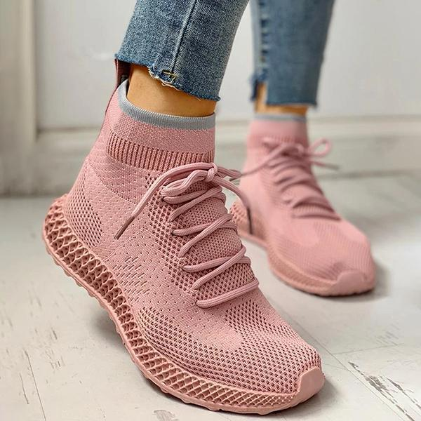 Variedshoes Breathable Lace-up Casual Socks Sneakers