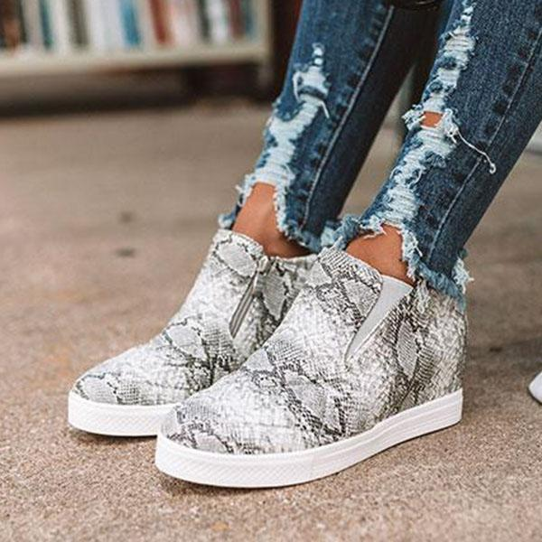 Variedshoes Fashion Wedge Heel Sneakers