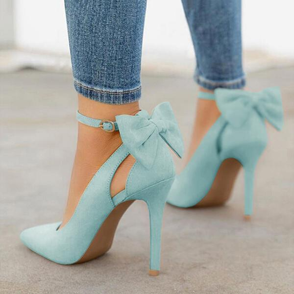Variedshoes Women Cute Bowknot High Heels
