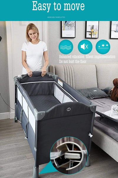 Brotish™ - Baby Bedside Bassinet Premium 4 in 1, Baby Co Sleeper