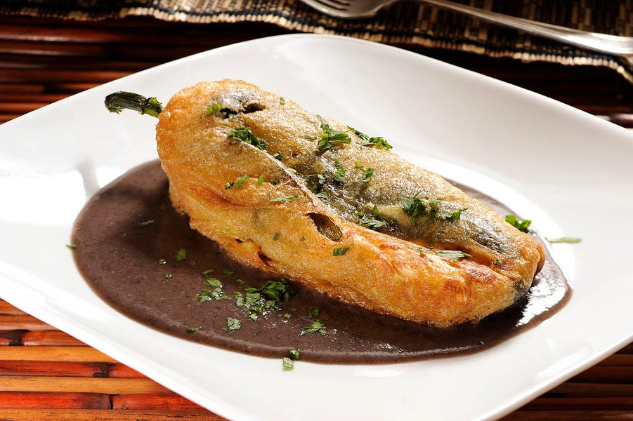 Chile Relleno with Musket Powder Gold
