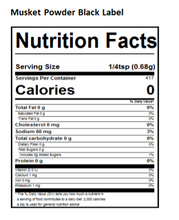 Load image into Gallery viewer, black label nutritional panel