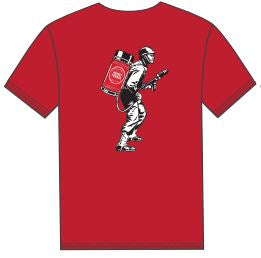 Short Sleeve Flame Thrower Red