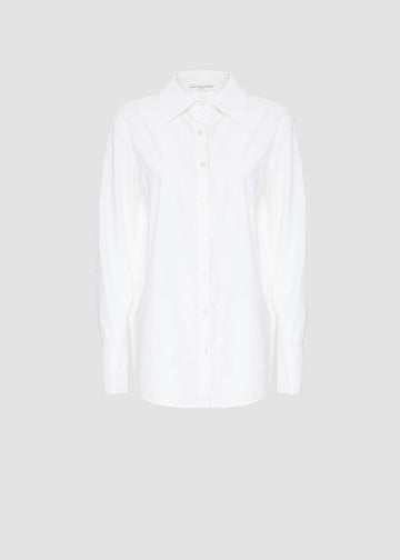 Camicia white color logata sul retro