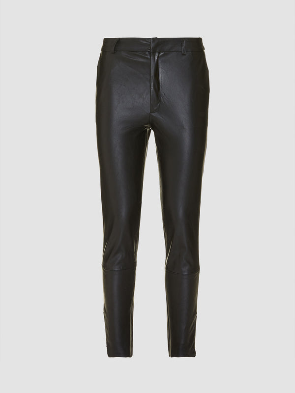 Pantaloni in similpelle stretch effect