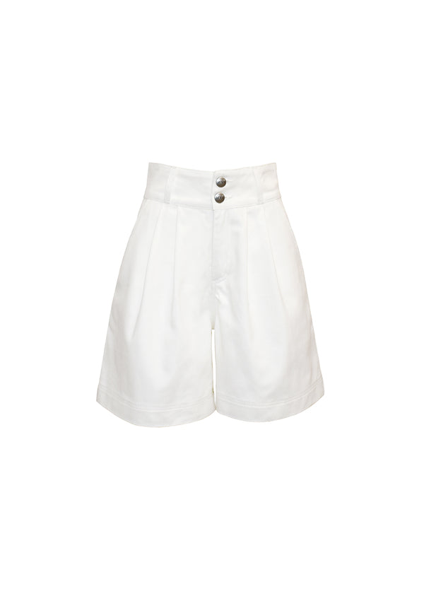 SHORTS IN DENIM BIANCO