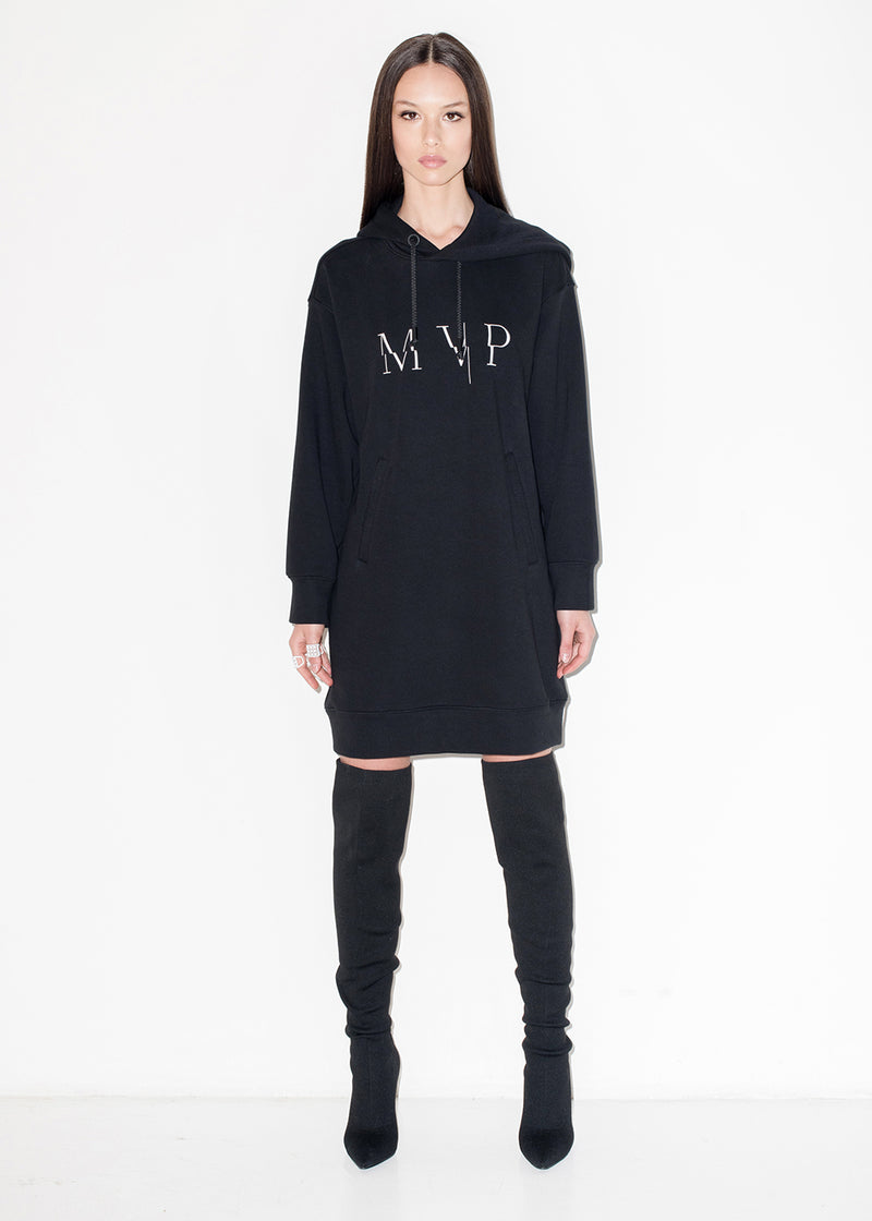 Dress in felpa con logo MVP e cappuccio
