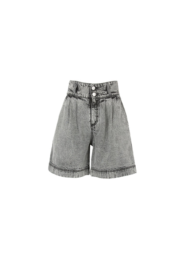 SHORTS IN DENIM GRIGIO