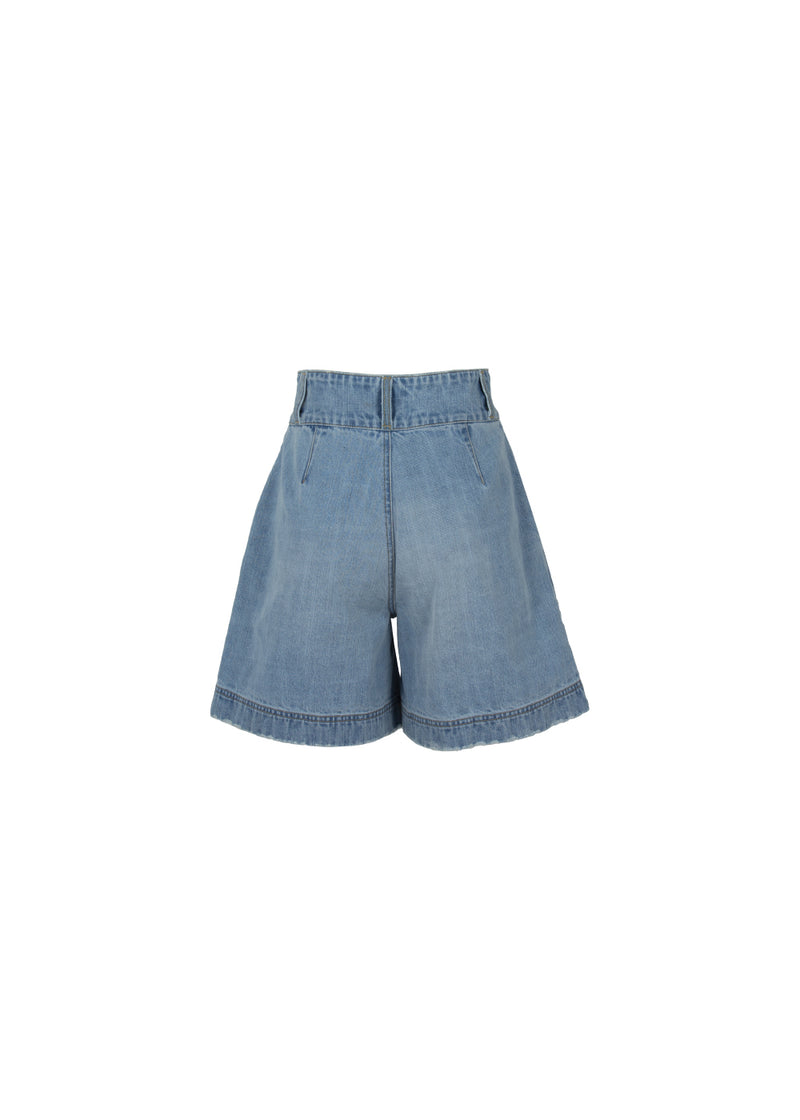 SHORTS IN DENIM LIGHT BLU