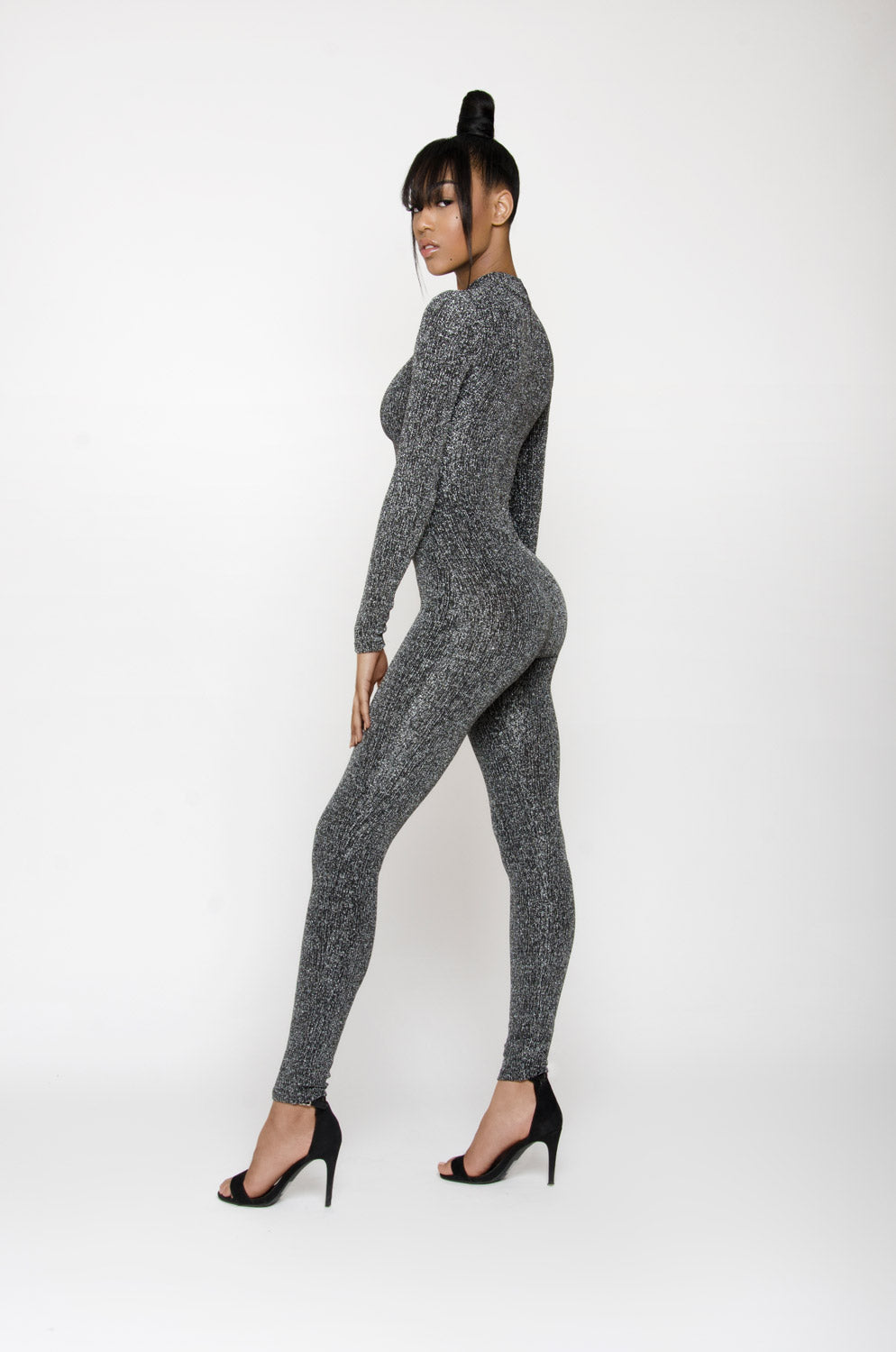 BARBIE BLANK COLLECTION | Sparkly Silver Jumpsuit
