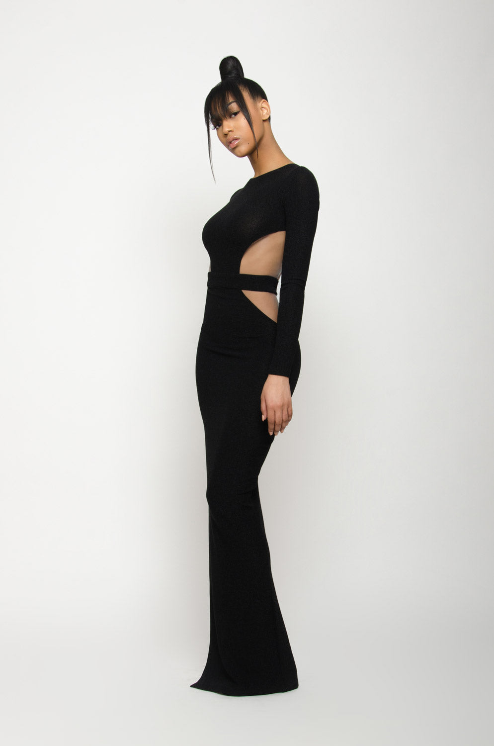 BARBIE BLANK COLLECTION | Backless Sparkly Noir Gown