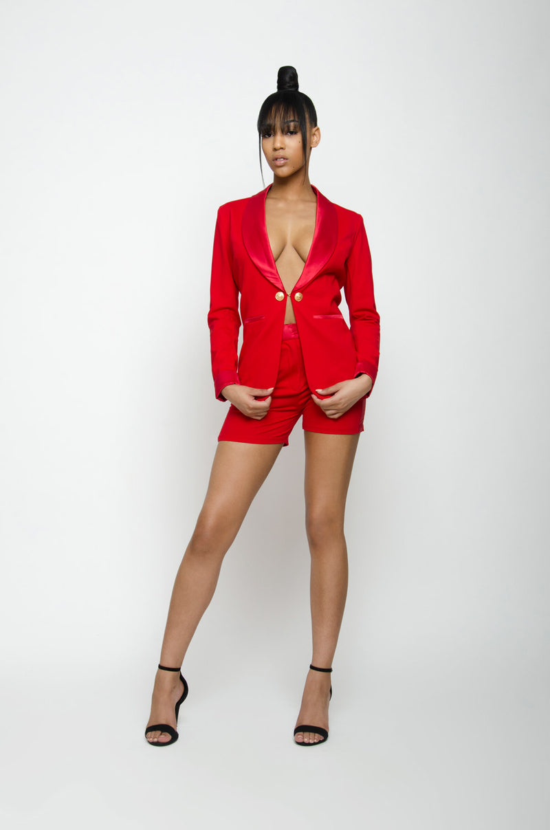 BARBIE BLANK COLLECTION | Red Tuxedo Blazer